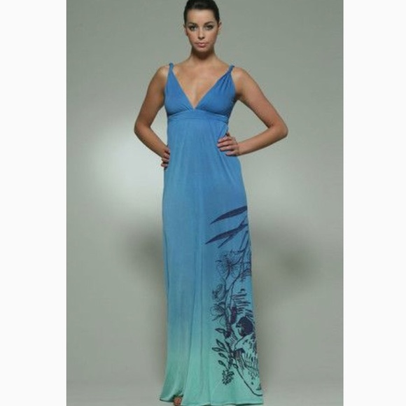 Raw 7 Dresses Nwt Skull Ombre Maxi Dress L Poshmark